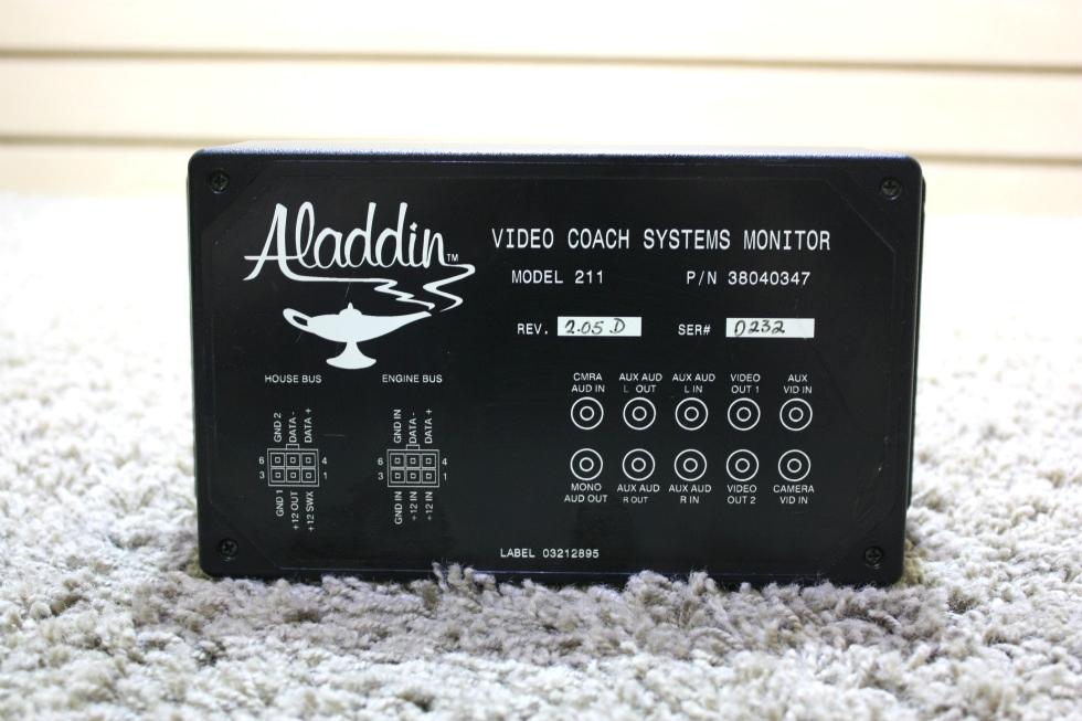 USED RV ALADDIN 3800347 VIDEO COACH SYSTEMS MONITOR FOR SALE RV Components