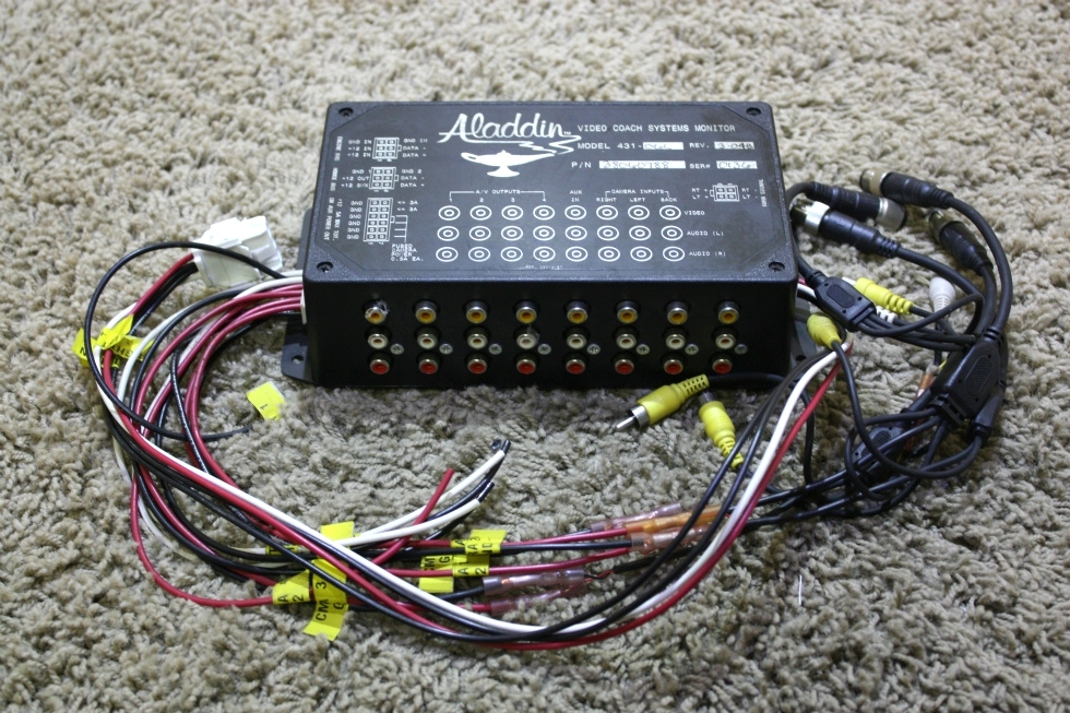 USED MOTORHOME ALADDIN 38060788 VIDEO COACH SYSTEMS MONITOR MODEL: 431-06L WITH WIRING HARNESS FOR SALE RV Components