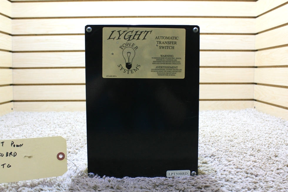 USED LYGHT POWER SYSTEMS AUTOMATIC TRANSFER SWITCH LPT50BRD RV PARTS FOR SALE RV Components