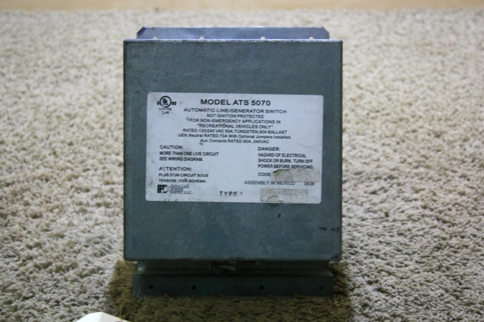 USED RV PPS AUTOMATIC LINE/GENERATOR SWITCH MODEL: ATS 5070 FOR SALE RV Components