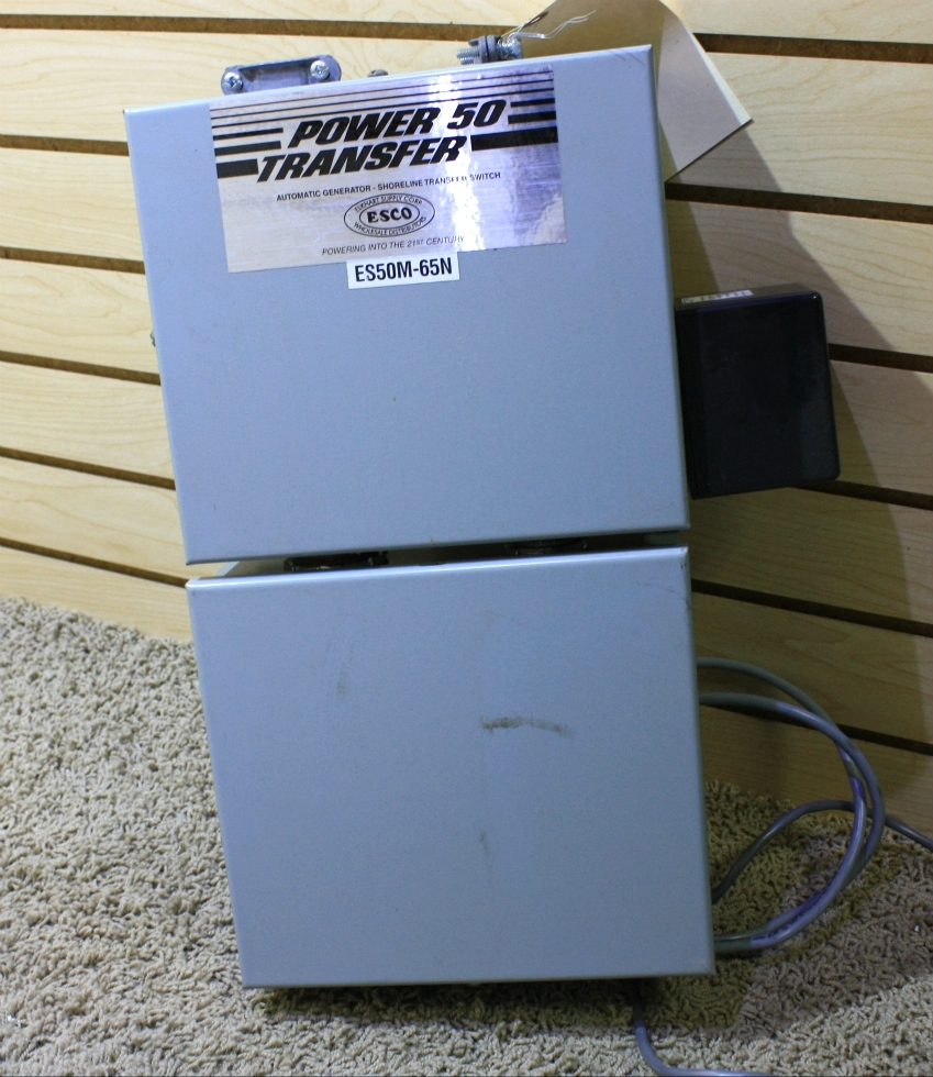 USED POWER 50 TRANSFER ES50M-65N AUTOMATIC GENERATOR - SHORELINE TRANSFER SWITCH RV PARTS FOR SALE RV Components