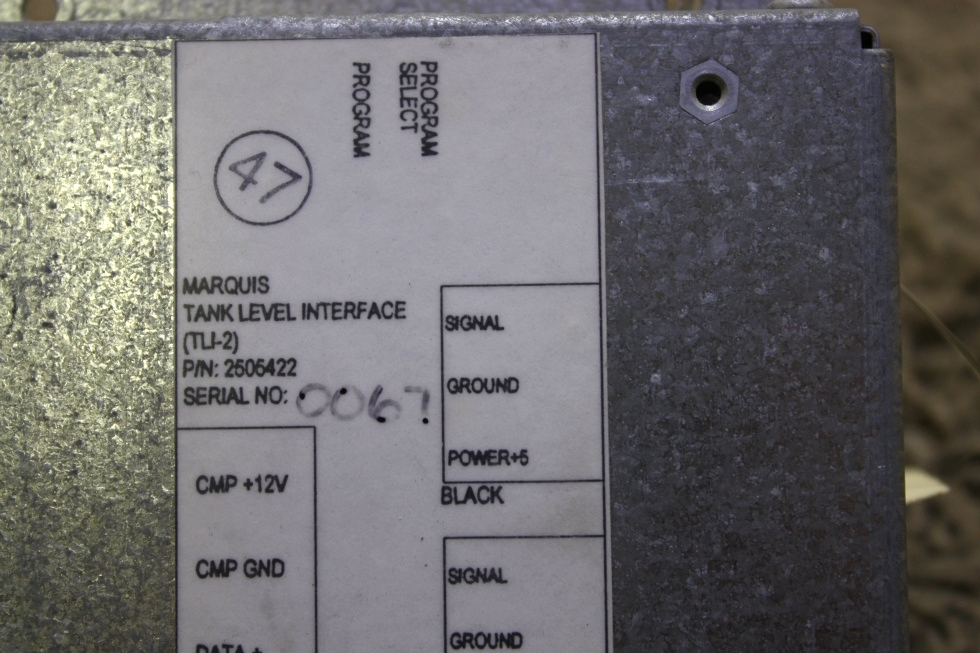 USED MOTORHOME 2505422 MARQUIS TANK LEVEL INTERFACE MODULE FOR SALE RV Components