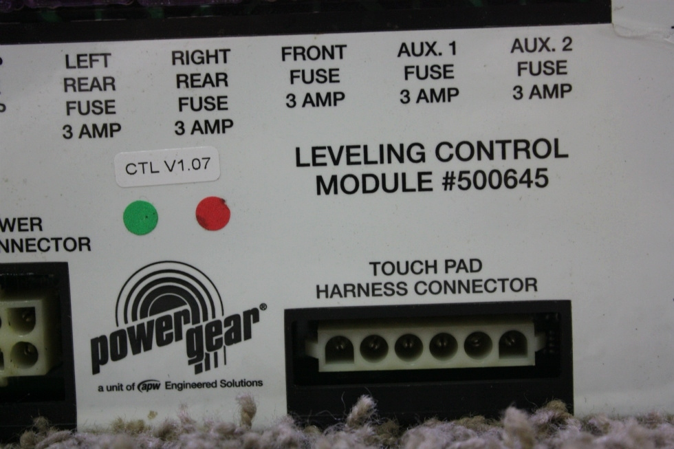 USED RV POWER GEAR LEVELING CONTROL MODULE 500645 FOR SALE RV Components