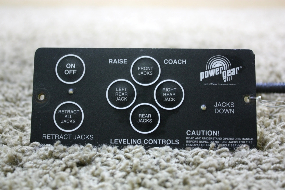 USED RV POWER GEAR 500456 LEVELING CONTROL TOUCH PAD FOR SALE RV Components