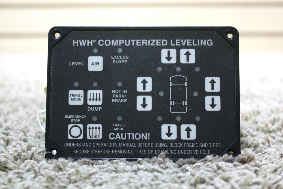 USED AP22703 HWH COMPUTERIZED LEVELING TOUCH PAD MOTORHOME PARTS FOR SALE RV Components