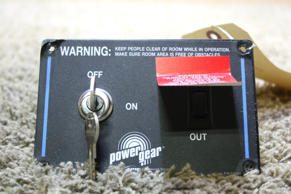 USED POWER GEAR SLIDE OUT CONTROL WITH KEY RV PARTS FOR SALE RV Components