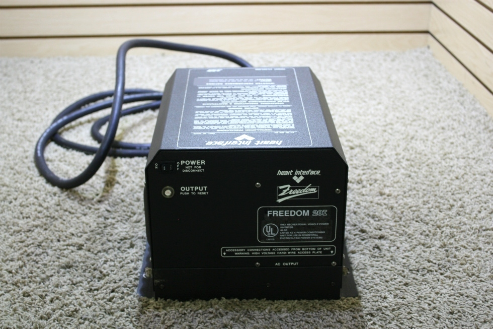 USED MOTORHOME HEART INTERFACE FREEDOM 20I INVERTER CHARGER MODEL: 80-0200-12(200) FOR SALE RV Components