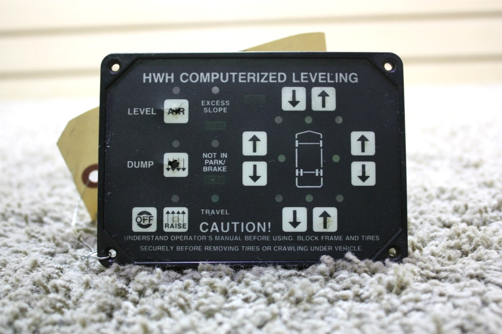 USED MOTORHOME HWH COMPUTERIZED LEVELING TOUCH PAD AP6975 FOR SALE RV Components