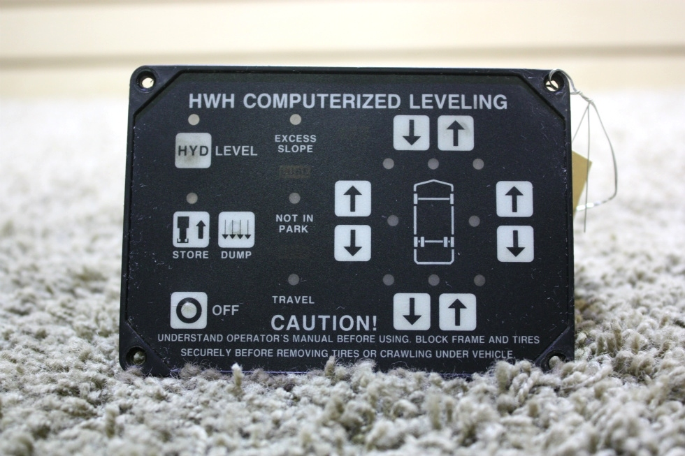 USED MOTORHOME HWH COMPUTERIZED LEVELING CONTROL TOUCH PAD FOR SALE RV Components