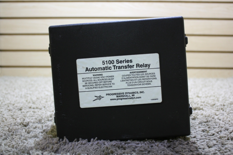 USED MOTORHOME PROGRESSIVE DYNAMICS 5100 SERIES AUTOMATIC TRANSFER RELAY FOR SALE RV Components
