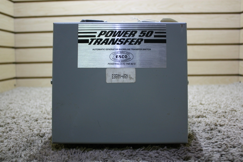 USED RV AUTOMATIC GENERATOR - SHORELINE TRANSFER SWITCH ES50M-65N FOR SALE RV Components