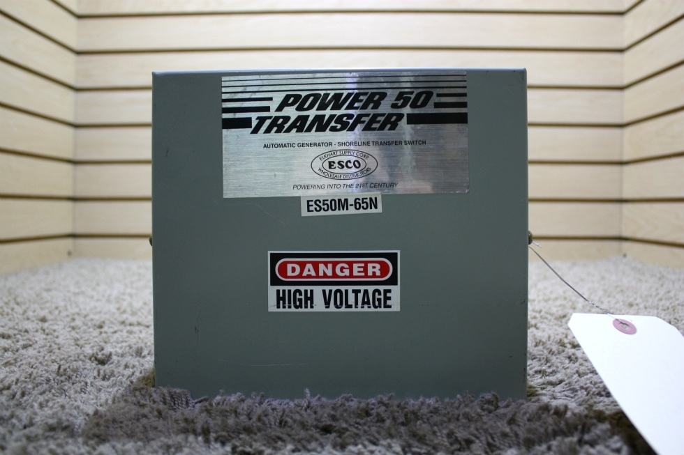 USED POWER 50 TRANSFER ES50M-65N AUTOMATIC GENERATOR - SHORELINE TRANSFER SWITCH MOTORHOME PARTS FOR SALE RV Components