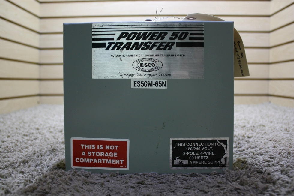 USED RV POWER 50 TRANSFER ES50M-65 AUTOMATIC TRANSFER SWITCH FOR SALE RV Components