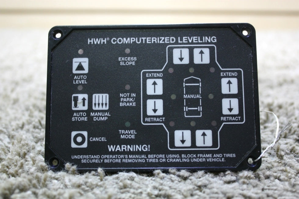 USED AP34884 HWH COMPUTERIZED LEVELING TOUCH PAD RV PARTS FOR SALE RV Components