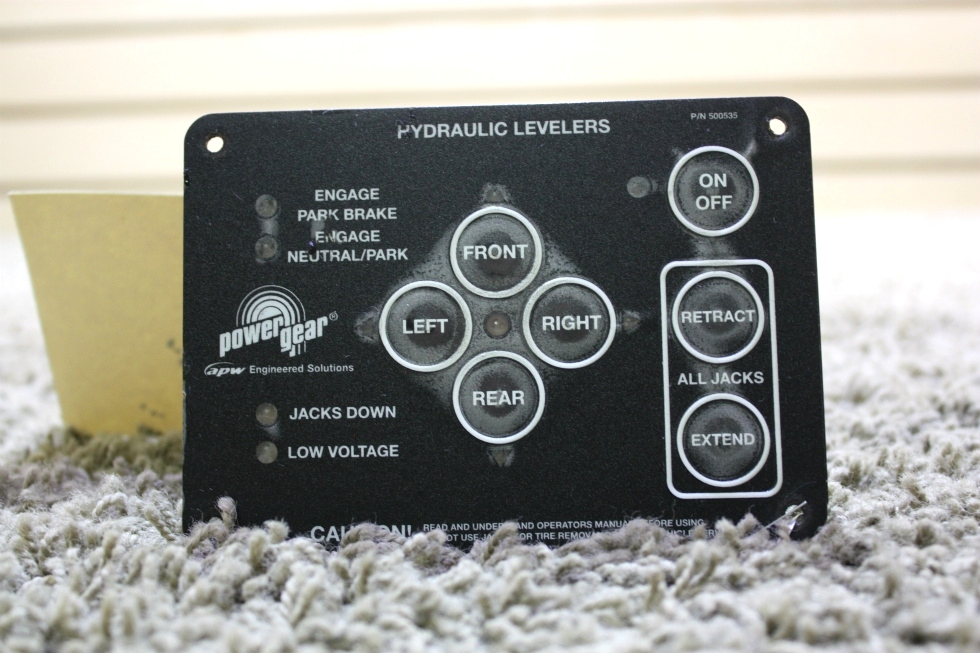 USED RV POWER GEAR HYDRAULIC LEVELERS TOUCH PAD 500535 FOR SALE RV Components