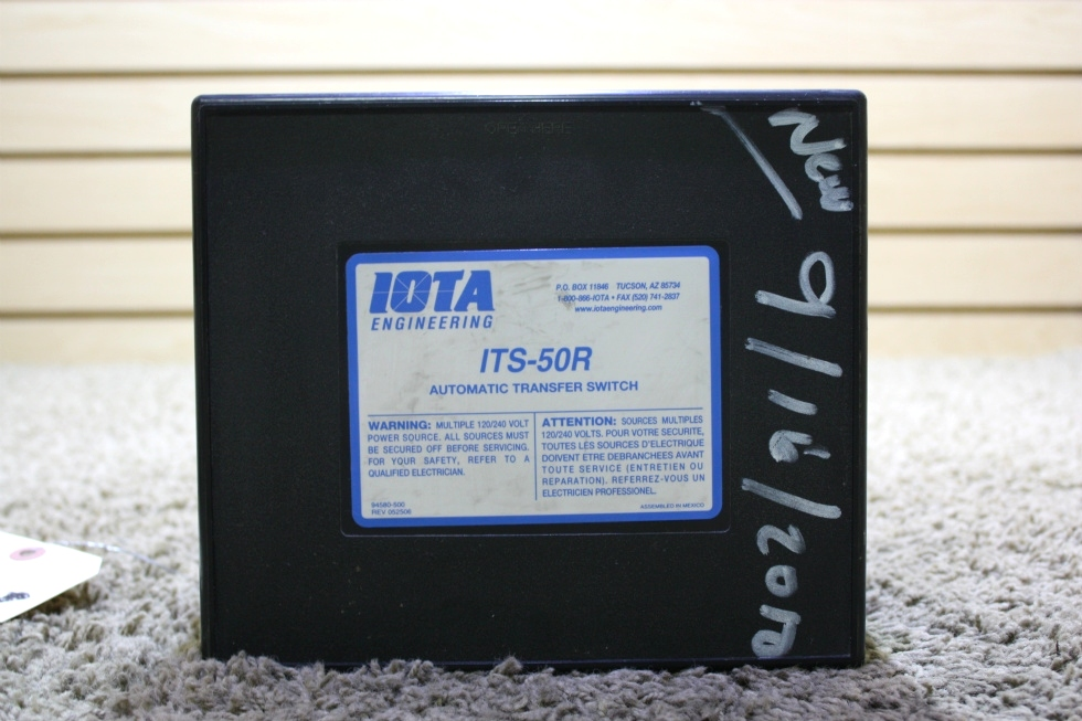 USED RV IOTA ENGINEERING AUTOMATIC TRANSFER SWITCH ITS-50R FOR SALE RV Components