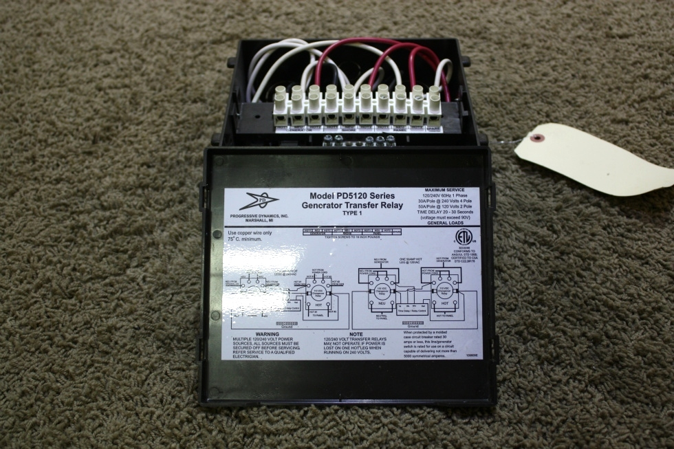 USED PROGRESSIVE DYNAMICS 5100 SERIES AUTOMATIC TRANSFER RELAY PD5120 FOR SALE RV Components