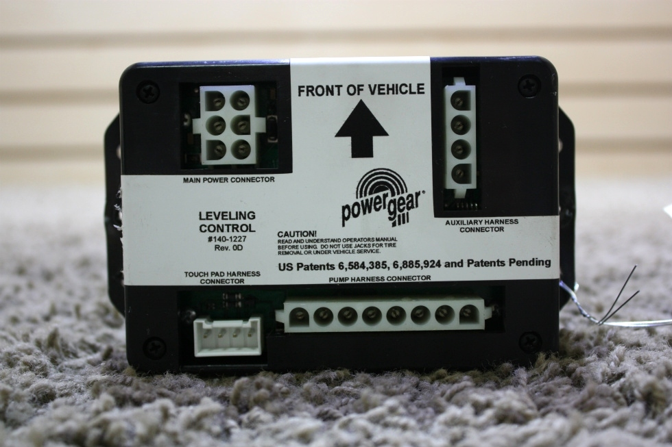 USED 140-1227 POWER GEAR RV LEVELING CONTROL BOARD FOR SALE RV Components