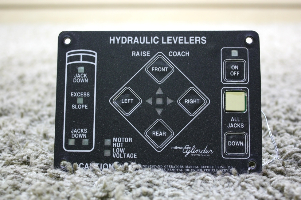 USED MILWAUKEE CYLINDER HYDRAULIC LEVELER TOUCH PAD 00-00309-000 RV PARTS FOR SALE RV Components