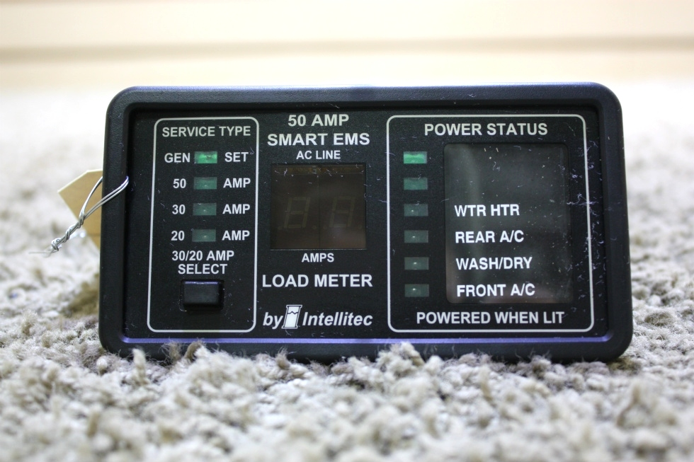 USED 50 AMP SMART EMS BY INTELLITEC DISPLAY PANEL 00-00684-100 RV PARTS FOR SALE RV Components