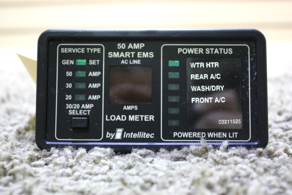 USED MOTORHOME INTELLITEC 50 AMP SMART EMS DISPLAY PANEL FOR SALE RV Components