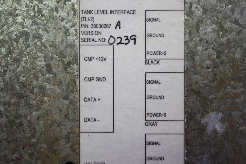 USED MOTORHOME TANK LEVEL INTERFACE (TLI-2) 38030267 FOR SALE RV Components