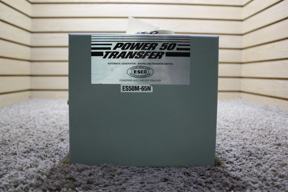 USED POWER 50 TRANSFER AUTOMATIC GENERATOR - SHORELINE TRANSFER SWITCH ES50M-65N RV PARTS FOR SALE RV Components
