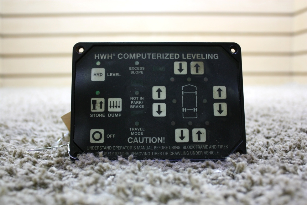 USED RV HWH COMPUTERIZED LEVELING TOUCH PAD AP25650 FOR SALE RV Components