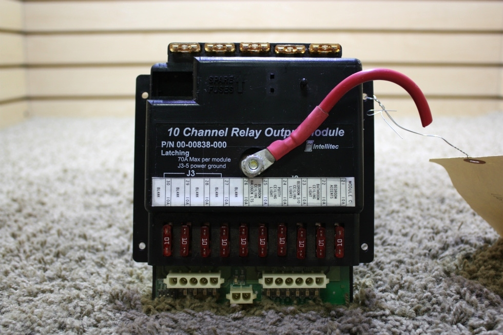USED MOTORHOME INTELLITEC 10 CHANNEL RELAY OUTPUT MODULE 00-00838-000 FOR SALE RV Components