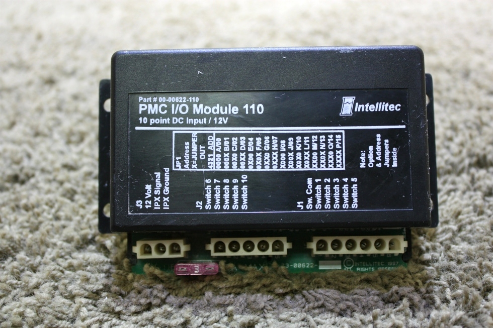 USED INTELLITEC PMC I/O MODULE 110 00-00622-110 MOTORHOME PARTS FOR SALE RV Components