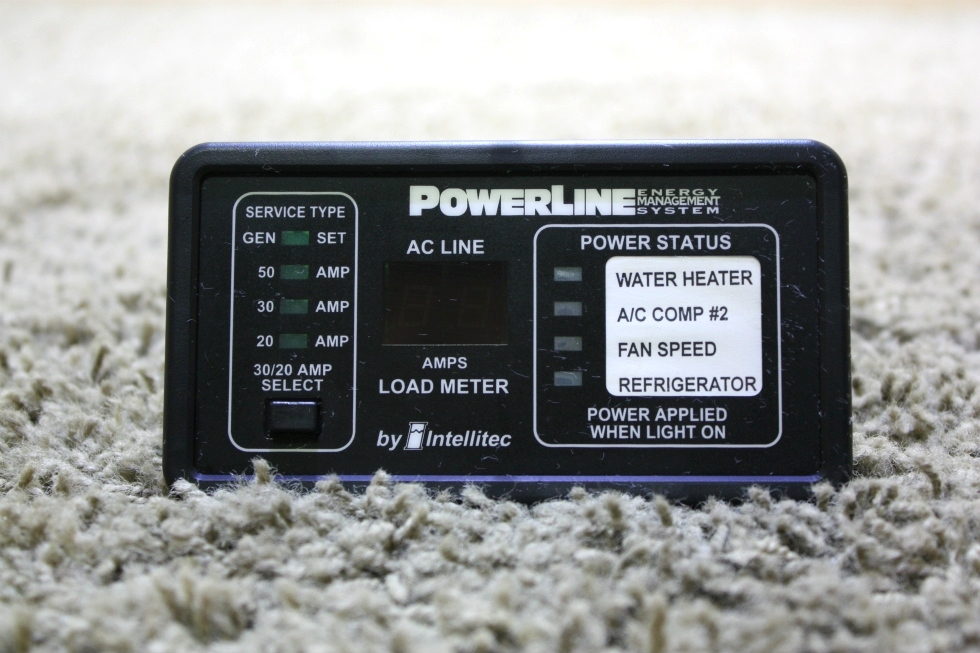 USED MOTORHOME INTELLITEC POWERLINE EMS DISPLAY PANEL 00-00757-000 FOR SALE RV Components