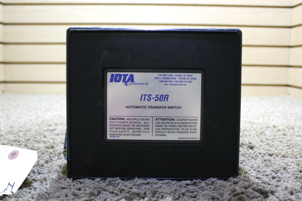 USED ITS-50R IOTA AUTOMATIC TRANSFER SWITCH MOTORHOME PARTS FOR SALE RV Components