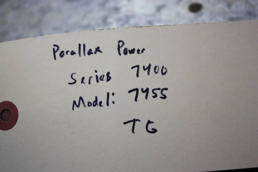 USED RV PARALLAX POWER COMPONENT MODEL: 7455 CONVERTER CHARGER FOR SALE RV Components