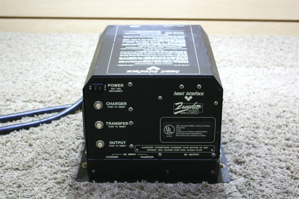 USED MOTORHOME HEART INTERFACE FREEDOM 25 INVERTER CHARGER FOR SALE RV Components
