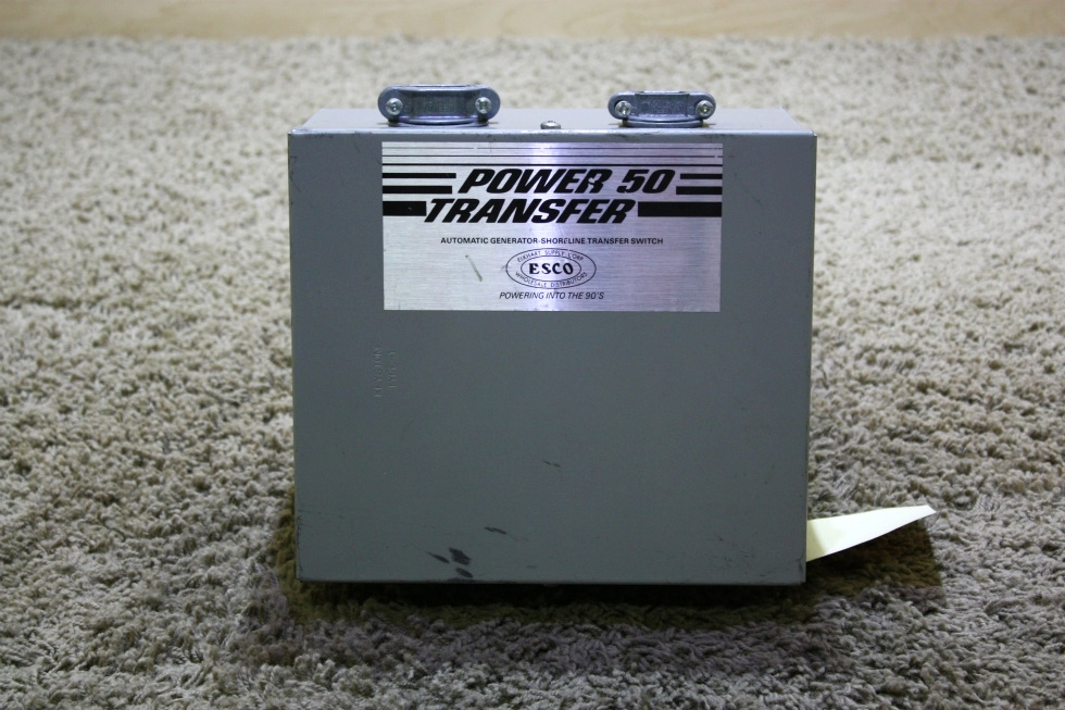 USED MOTORHOME POWER 50 TRANSFER ES-50 AUTOMATIC GENERATOR-SHORELINE TRANSFER SWITCH FOR SALE RV Components