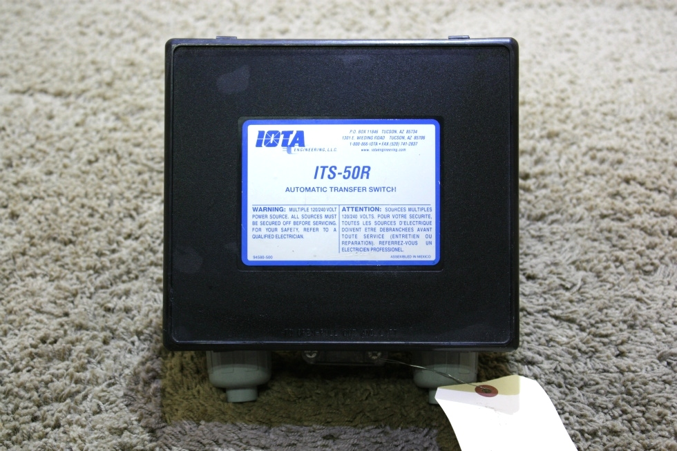 USED RV IOTA AUTOMATIC TRANSFER SWITCH ITS-50R FOR SALE RV Components