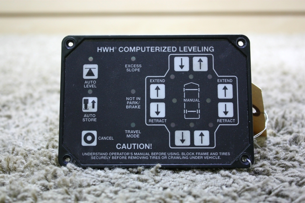 USED MOTORHOME AP39649 HWH COMPUTERIZED LEVELING TOUCH PAD FOR SALE RV Components