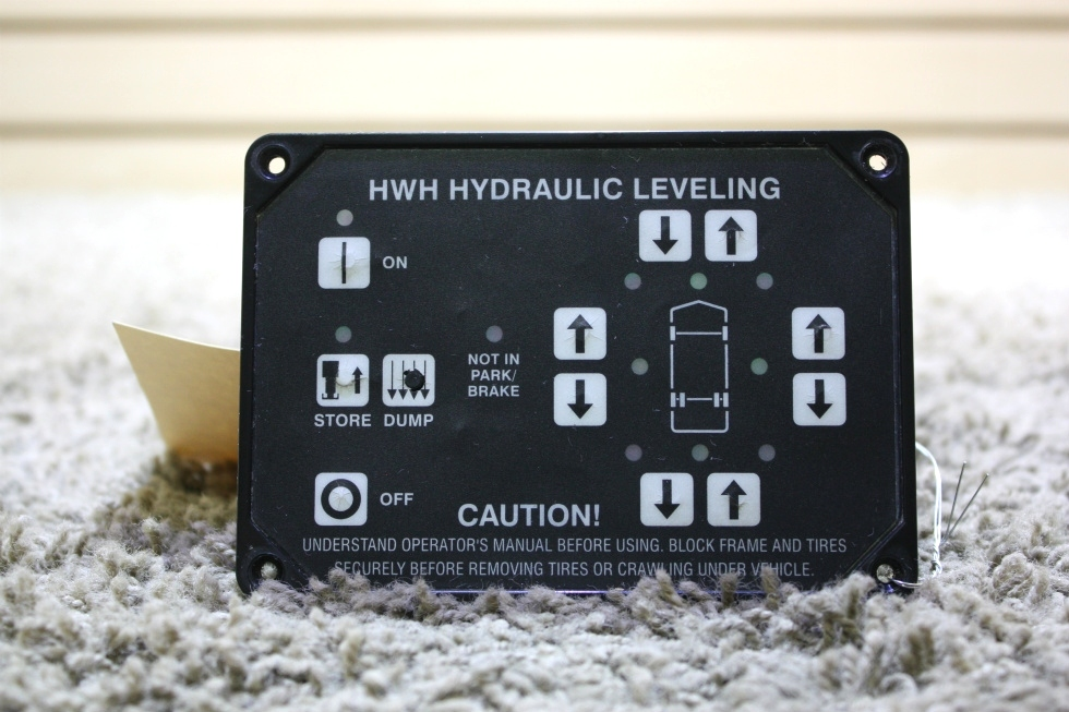USED HWH HYDRAULIC LEVELING AP10054 TOUCH PAD MOTORHOME PARTS FOR SALE RV Components