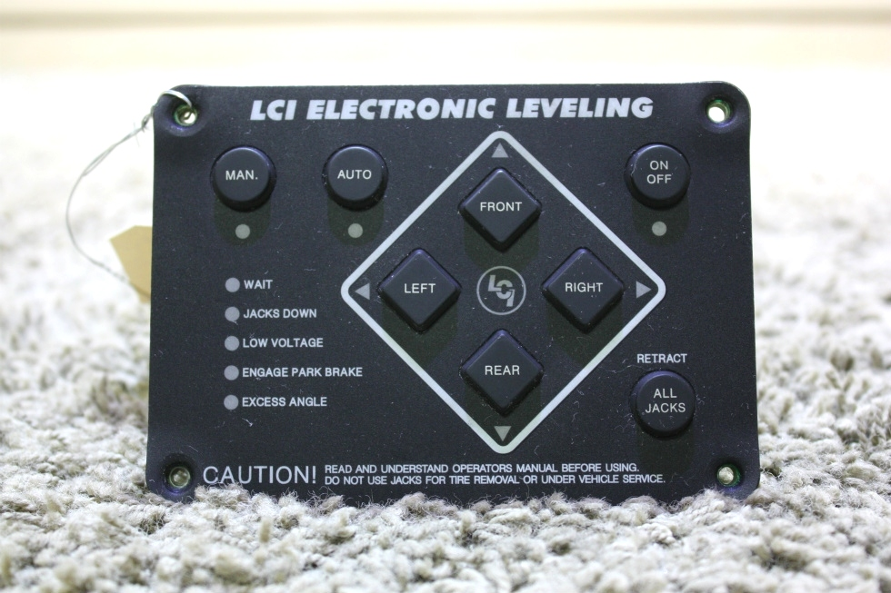 USED MOTORHOME LCI ELECTRONIC LEVELING TOUCH PAD 12478A FOR SALE RV Components