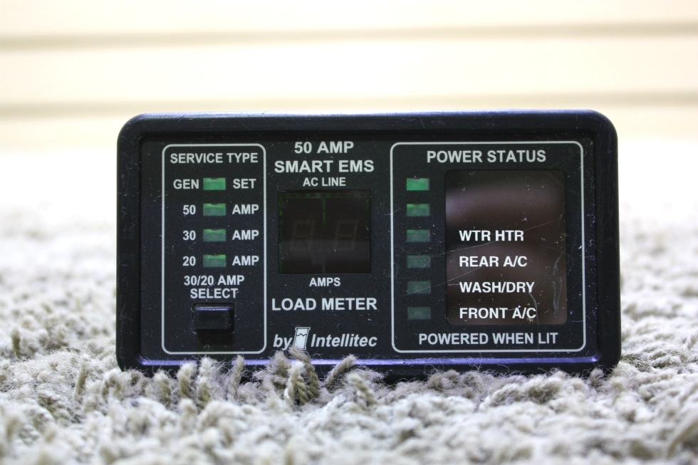 USED 50 AMP SMART EMS BY INTELLITEC 00-00684-100 DISPLAY PANEL FOR SALE RV Components