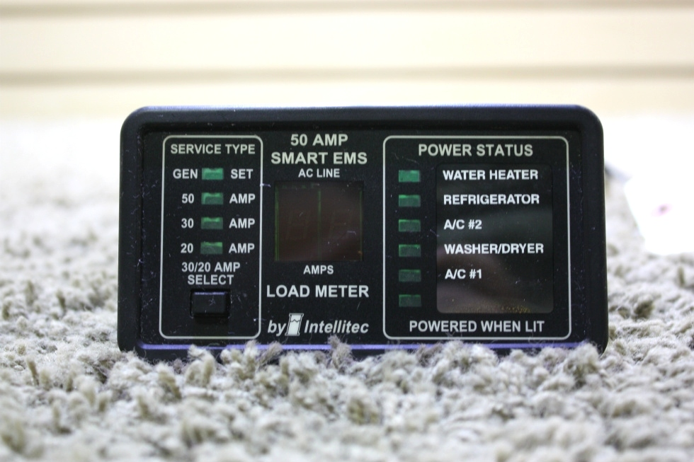 USED MOTORHOME 50 AMP SMART EMS BY INTELLITEC DISPLAY PANEL FOR SALE RV Components