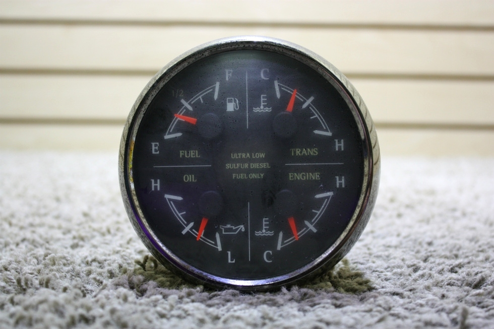 USED MOTORHOME MEDALLION 8653-5000629 4 IN 1 DASH GAUGE FOR SALE RV Components