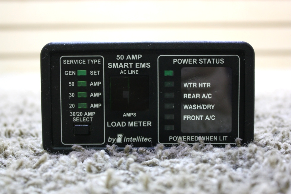 USED 50 AMP SMART EMS BY INTELLITEC DISPLAY PANEL 00-00684-100 MOTORHOME PARTS FOR SALE RV Components