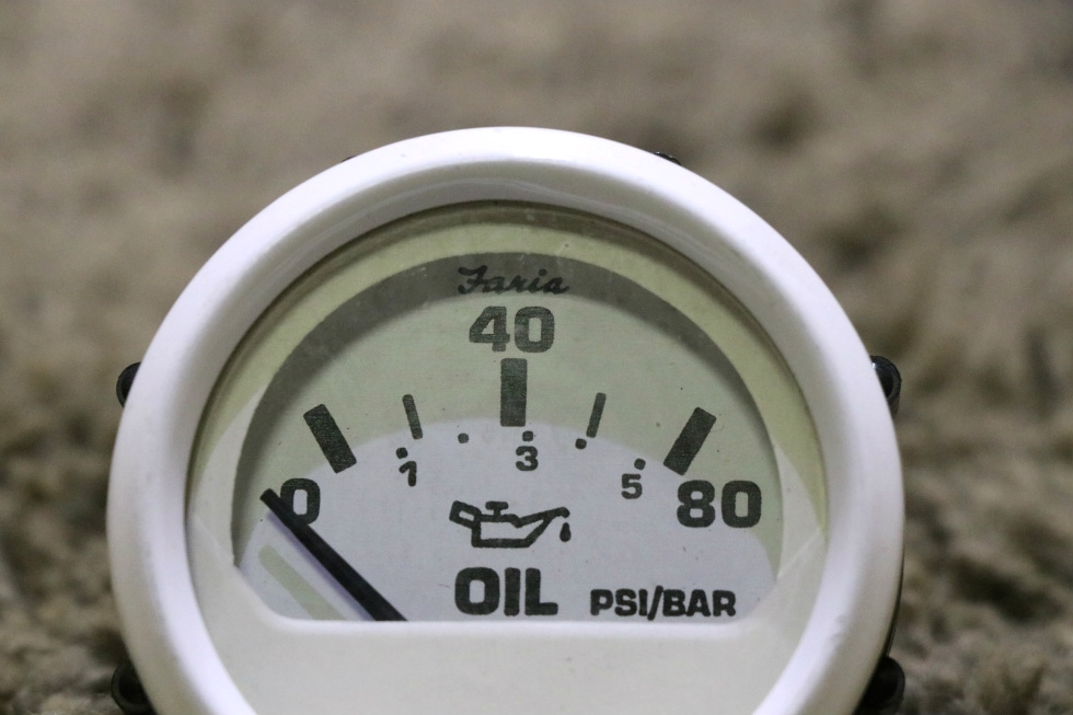 USED RV OIL PRESSURE DASH GAUGE 118401 FOR SALE RV Components