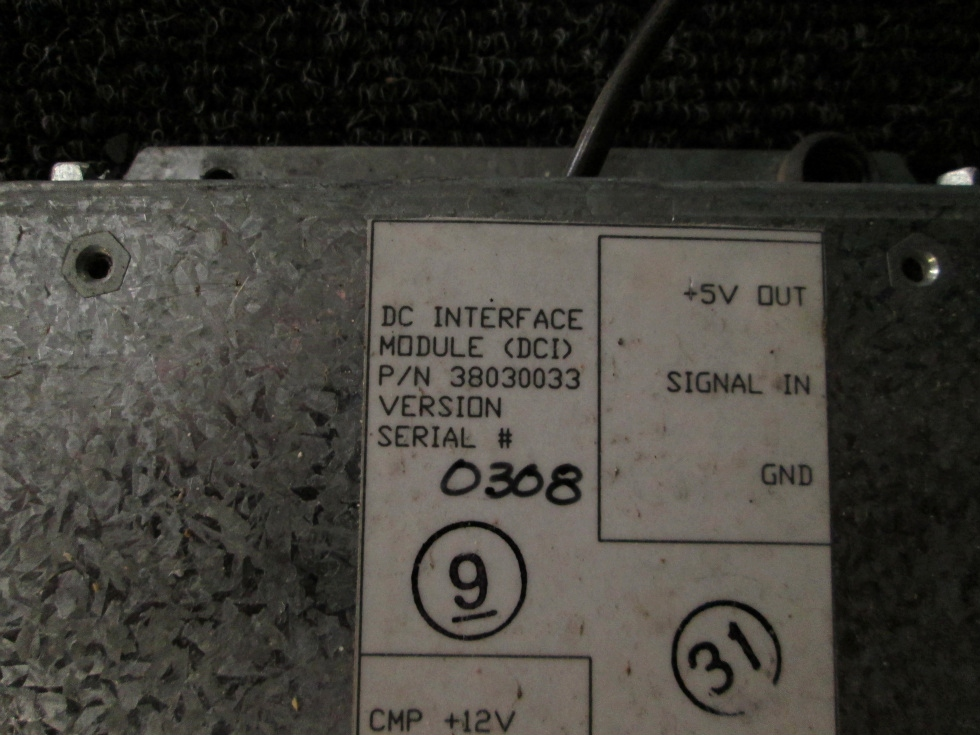USED ALADDIN DC INTERFACE MODULE P/N 38030033 S/N: 0308 RV Components