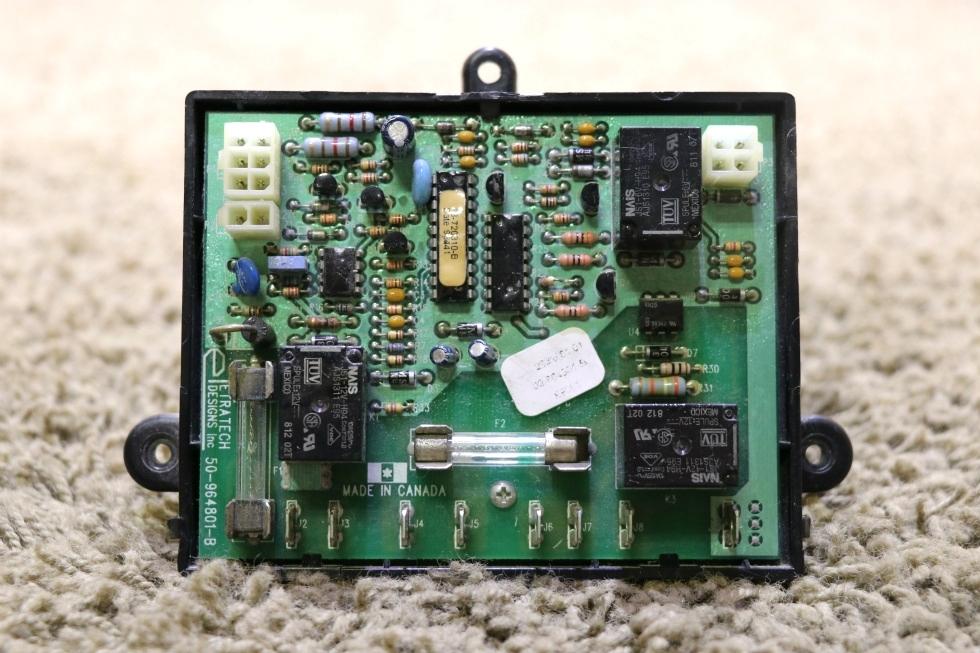 USED RV ETRATECH DESIGNS INC 50-964801-B CONTROL BOARD FOR SALE RV Components