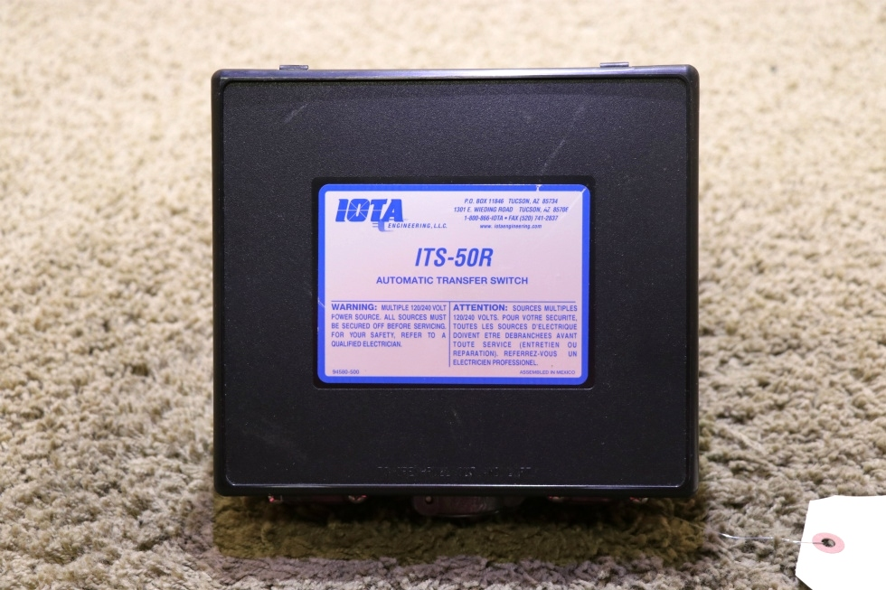USED ITS-50R IOTA ENGINEERING AUTOMATIC TRANSFER SWITCH RV PARTS FOR SALE RV Components