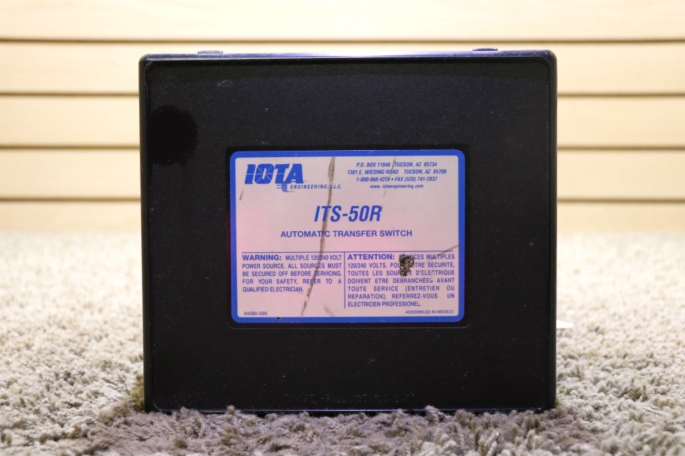 USED RV IOTA ENGINEERING ITS-50 AUTOMATIC TRANSFER SWITCH FOR SALE RV Components