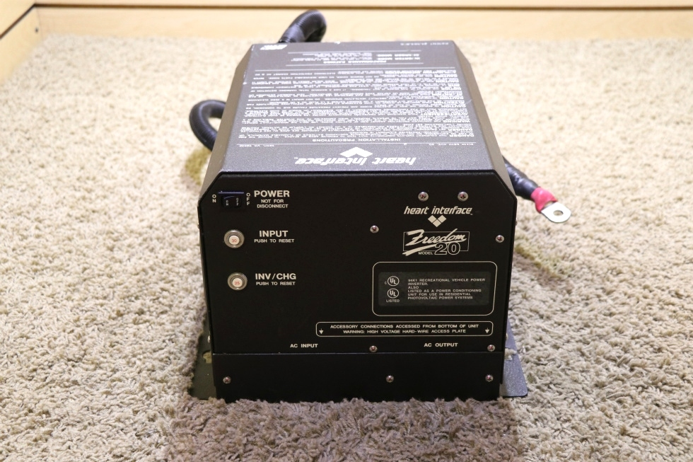 USED MOTORHOME 81-0209-12(204) HEART INTERFACE FREEDOM 20 INVERTER/CHARGER FOR SALE RV Components