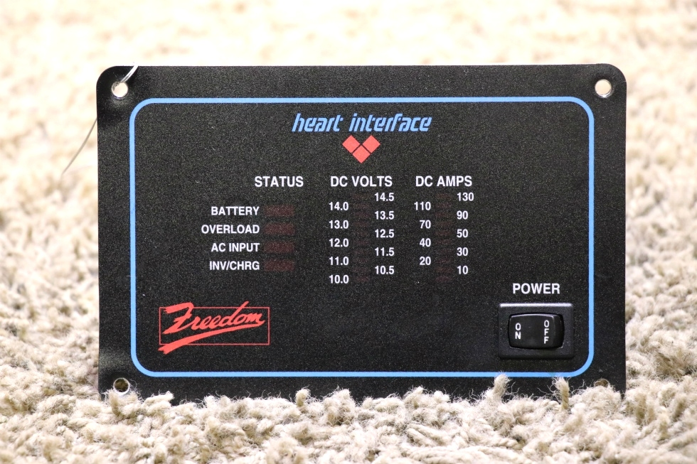 USED RV HEART INTERFACE FREEDOM INVERTER REMOTE PANEL FOR SALE RV Components